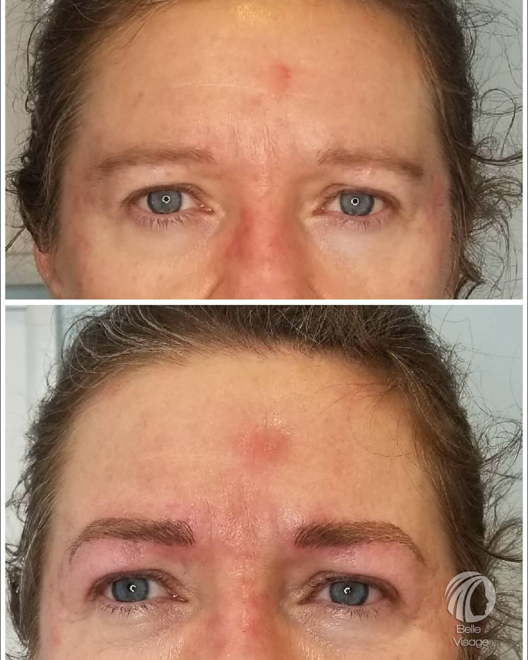 view of woman permanent eyebrows
