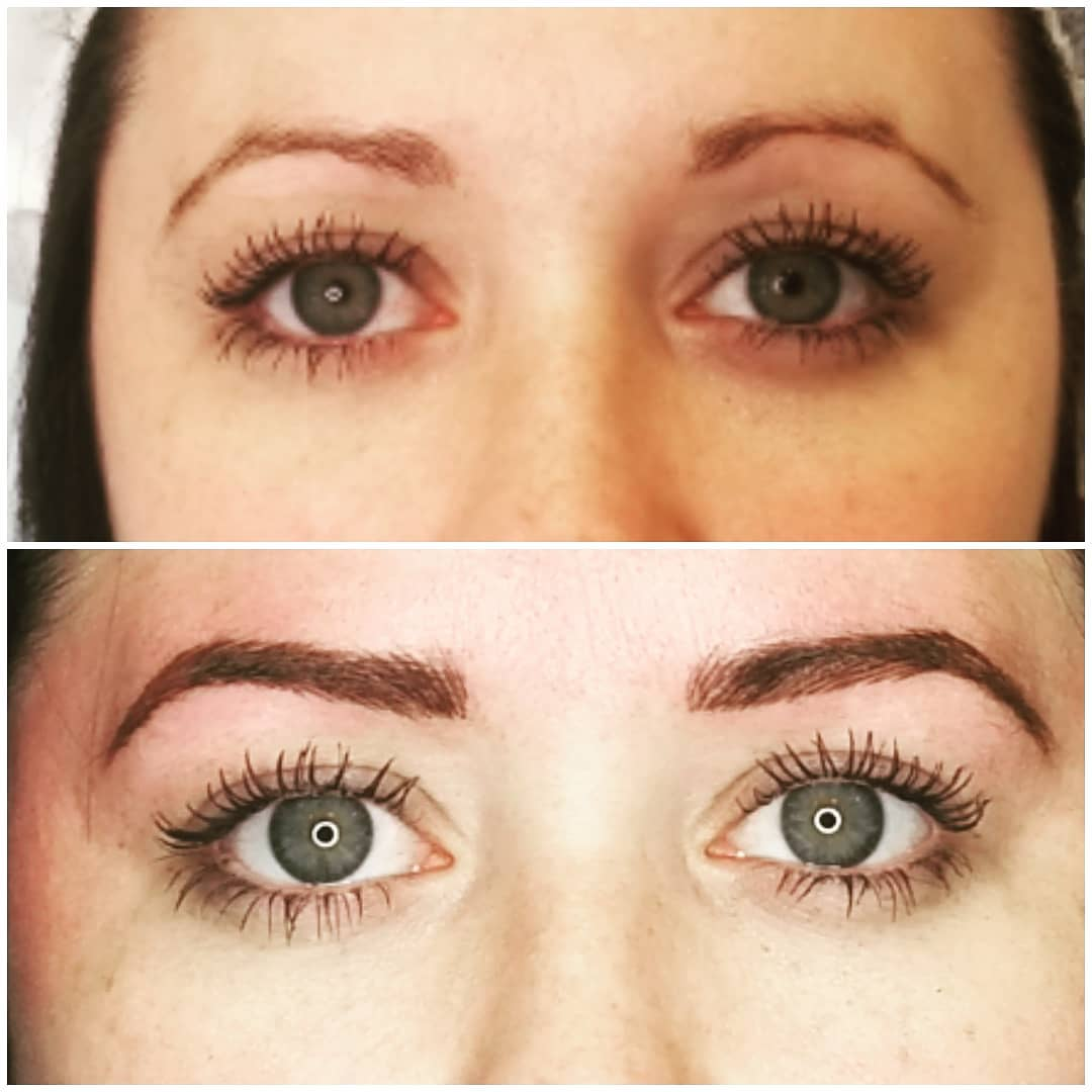woman permanent eyebrows