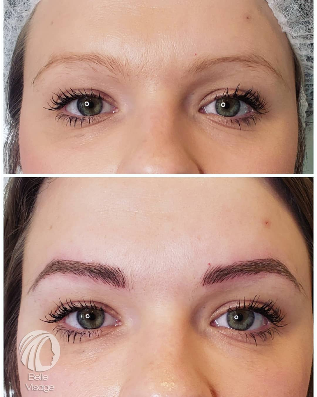permanent eyebrow before and after view